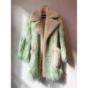 Coach Shearling and Faux Fur Runway Coat